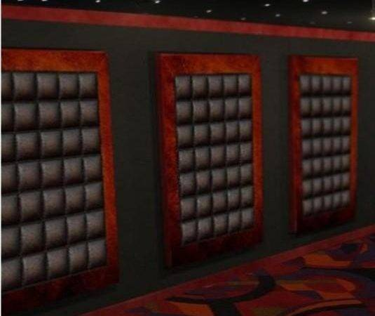 Decorative Leather Finish Wall Panels Home Theater Modern