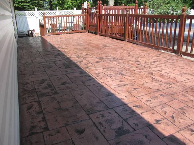 Decorative Stamped Concrete Decks Evolution