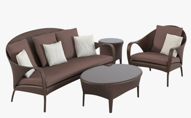 Dedon Tango Beach Lounge Chair Sofa Table Coffee Wicker Rattan