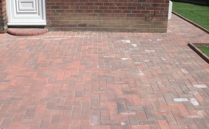 Degree Herringbone Block Paving Driveway Walkway Front Step