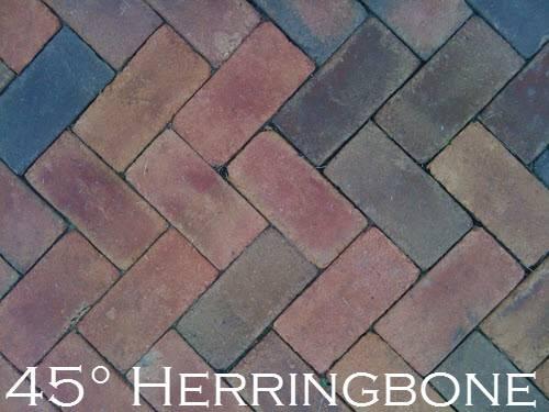 Degree Herringbone Paver Pattern Depending Your