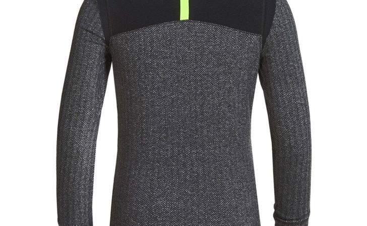 Degree Reflex Color Block Herringbone Shirt Zip Neck Big