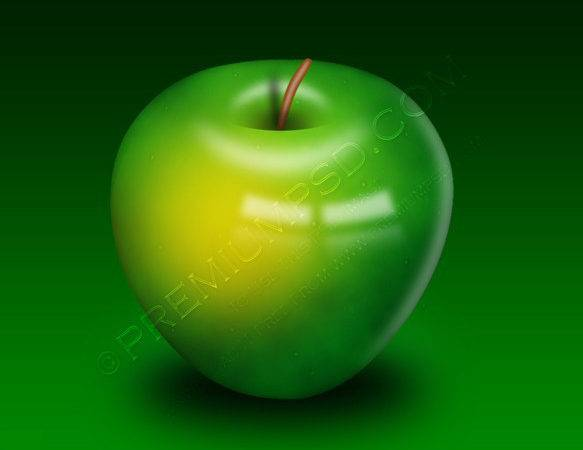 Delicious Green Apple Design Psd Premium
