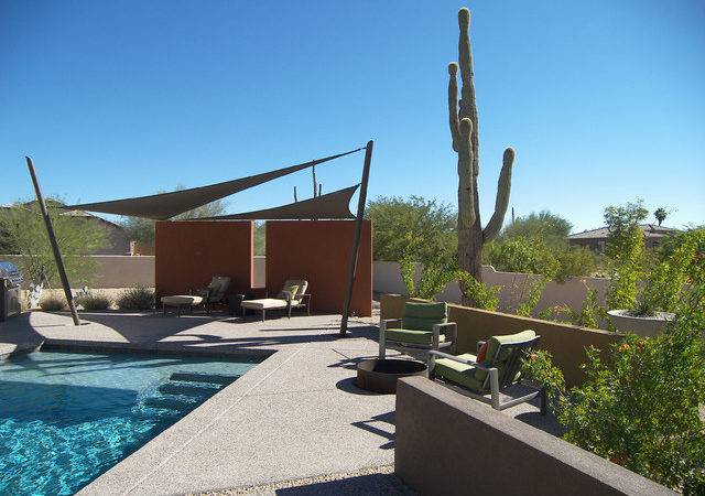 Desert Back Yard Contemporary Patio Phoenix Link