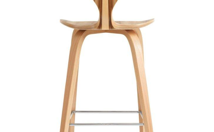 Design Cherner Red Gum Wood Base Modern Bar Counter Stool Height
