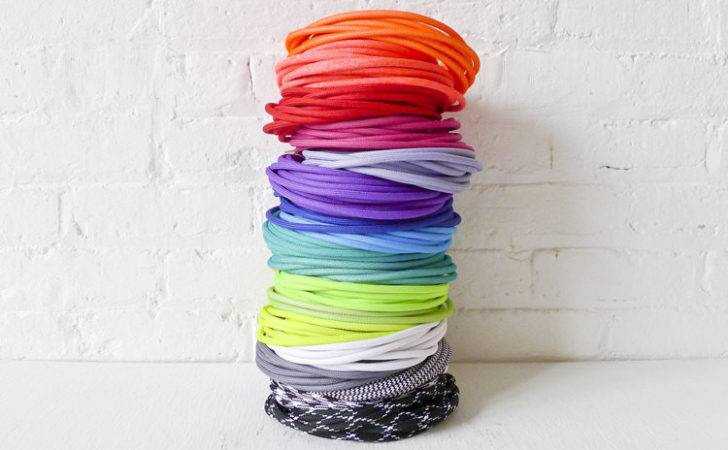 Design Custom Hanging Light Color Cord Pendant