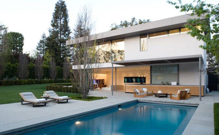 Design Ideas Rectangle Swimming Pool Green Garden
