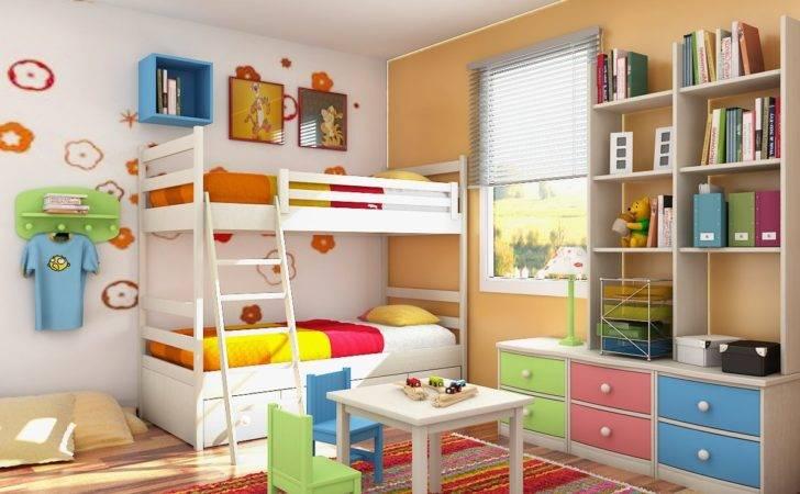 Design Interior Kids Room Color Simple Decorate
