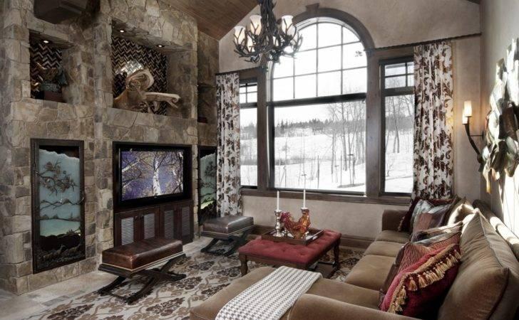 Design One Interiors Colorado Mountain Home Living Room