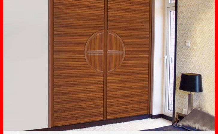 Design Teak Wood Wardrobe Door Bedroom Wooden