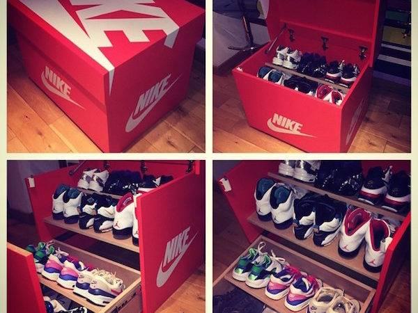 Designer Builds Sneaker Cabinet Looks Like Gigantic Nike