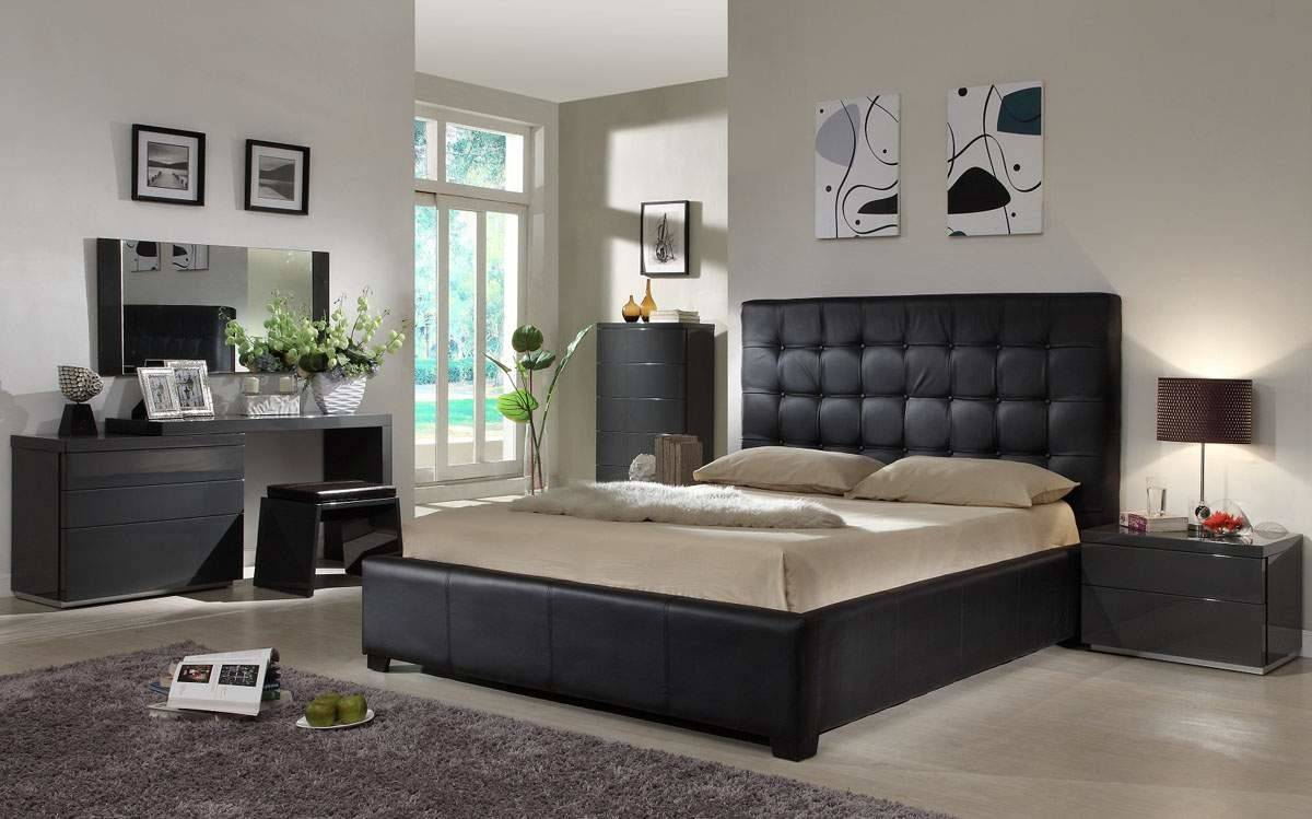 Designer Modern Beds Italian Leather Furniture