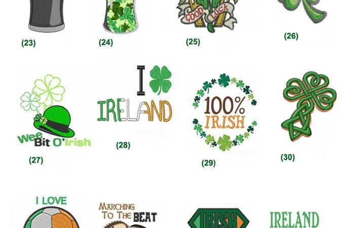 Designs Custom Drawn Shade Irish Green Celtic Tattoo Design