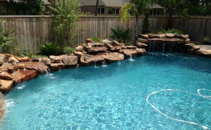 Designs Small Backyards Swimming Pool Garden Fish Ponds Rock