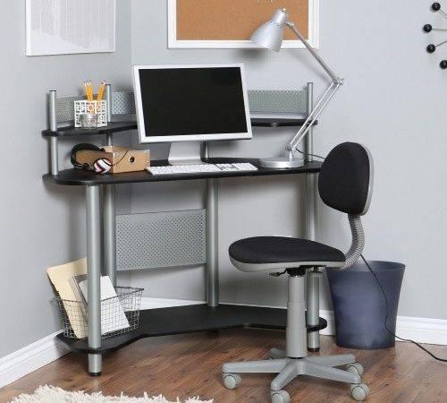 Designs Study Corner Desk Silver Black Kids Desks Hayneedle