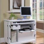 Desk Computer Storage White