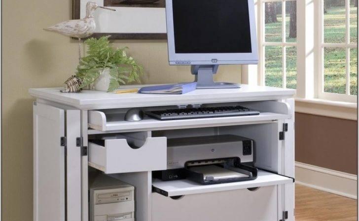 Desk Computer Storage White