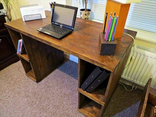Desk Design Computer Table Diy Pallet Wood Office