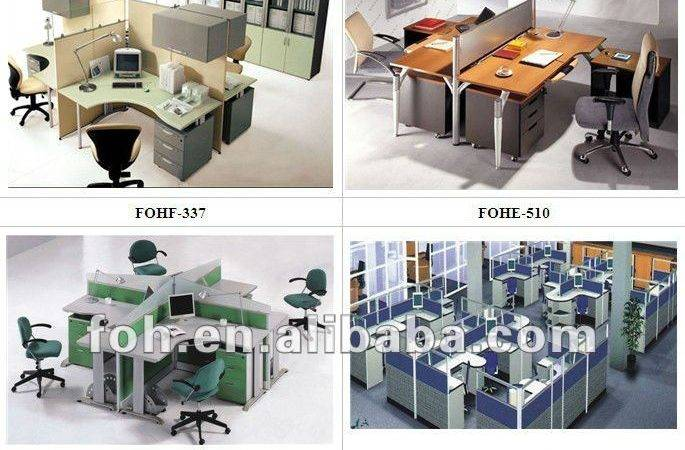 Desk Modern Design Modular Office Furniture Fohf Person