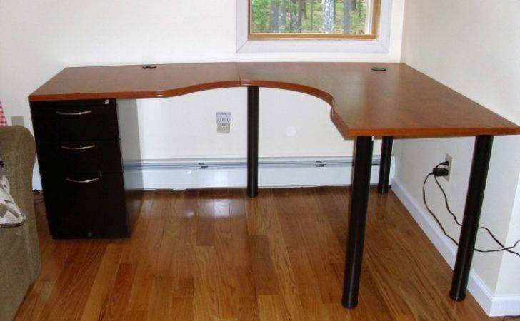 Desk Plans Diy Shaped Ideas Shapped