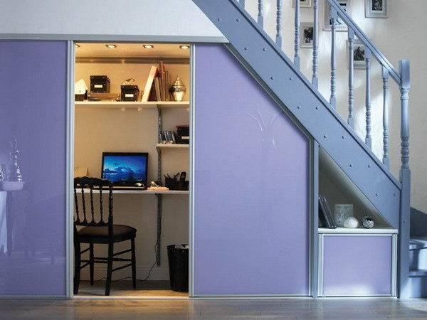 Desk Under Stairs Design Ideas Office Staircase