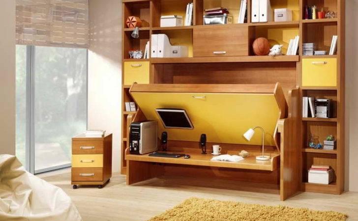 Desk Wall Bed Combination Murphy Beds Space Saving Ideas