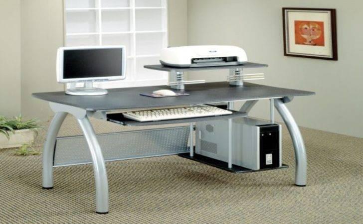 Desks Contemporary Computer Desk Keyboard Tray