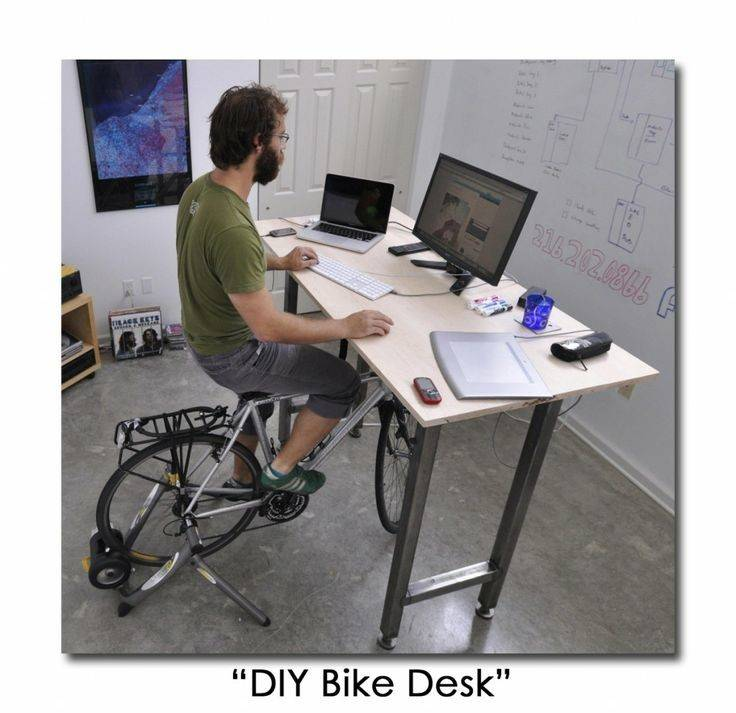 Desks Diy Bike Desk Painting Pinterest