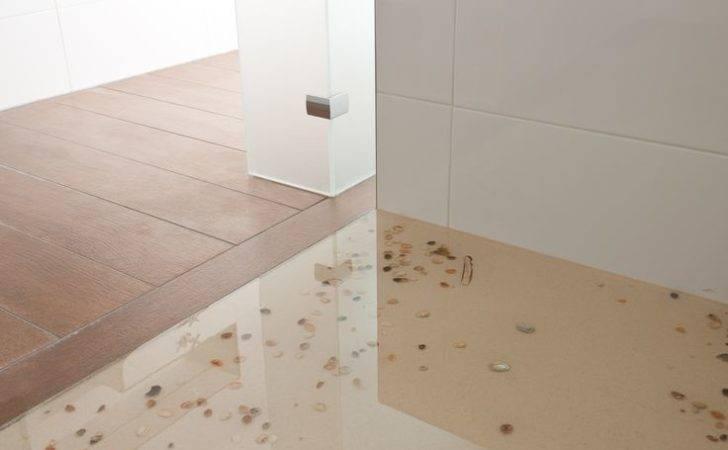 Detail Bathroom Floor Epoxy Sand Sea Shells