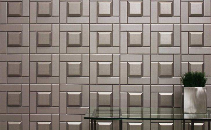 Detail Leather Tile Wall Covering