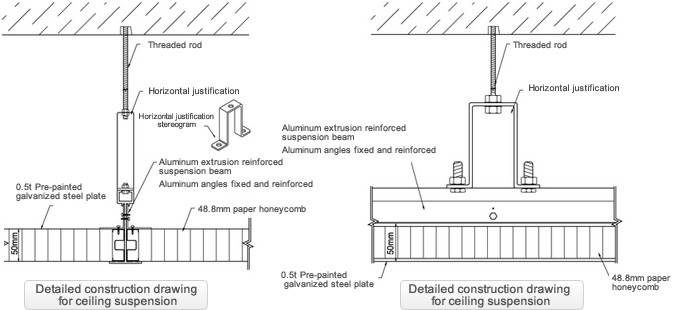 Detailed Drawing Ceiling Construction Clean Room