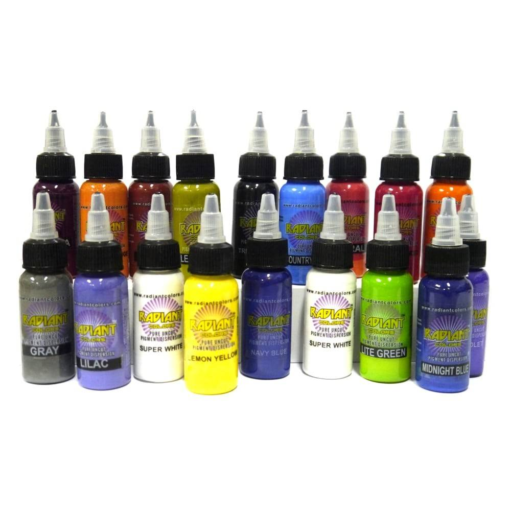 Details Authentic Radiant Colors Color Tattoo Ink Set Kit