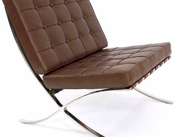 Details Barcelona Lounge Chair Brown Leather Mies Van Der Rohe
