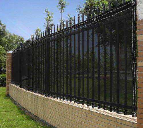 Details Black Windscreen Fence Screen Mesh Slat Privacy Fabric