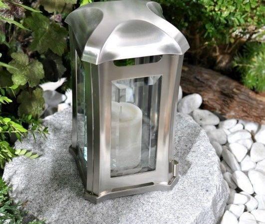 Details Grave Decoration Lights Lantern Lamp Granit Fine