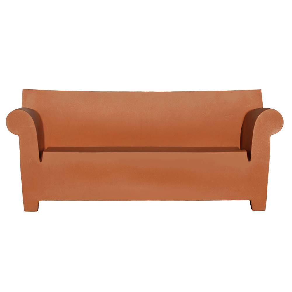 Details Italian Kartell Philippe Starck Bubble Club Sofa Brown
