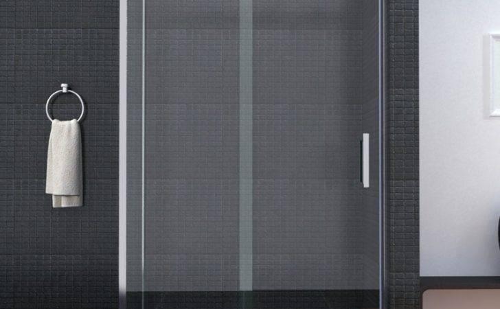 Details Luxury Frameless Sliding Shower Door Enclosure Easyclean