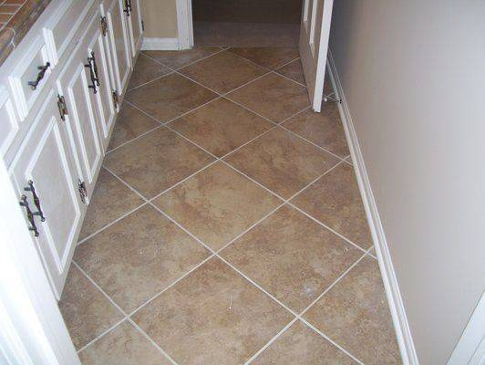 Diagonal Tile Pattern Large Tiles Flooring Pinterest
