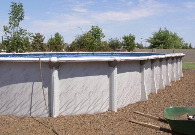 Diamond Star Oval Pool Installation