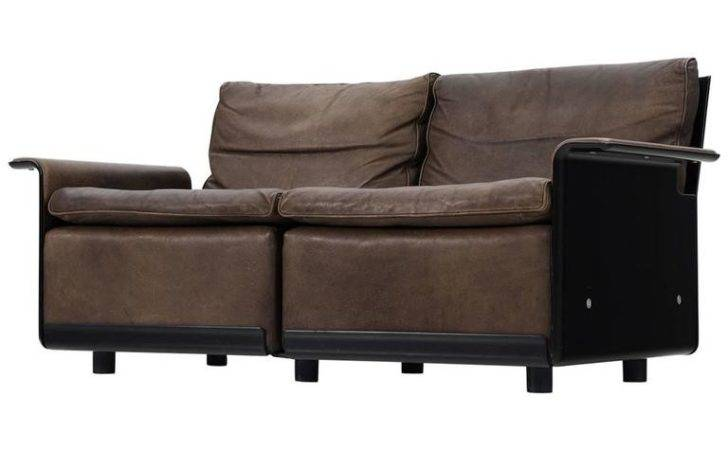 Dieter Rams Sofa Patinated Brown Leather