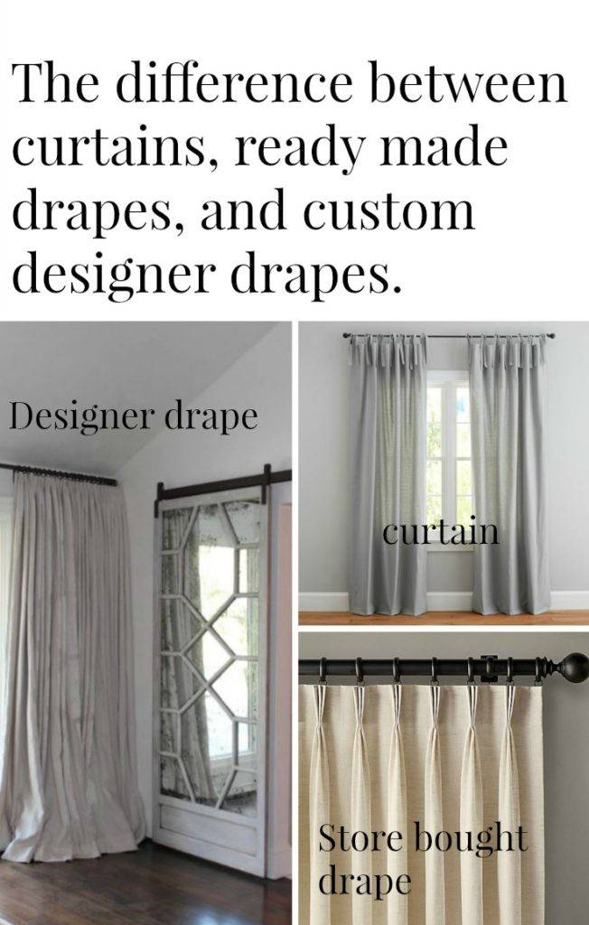 Difference Between Drapes Curtains