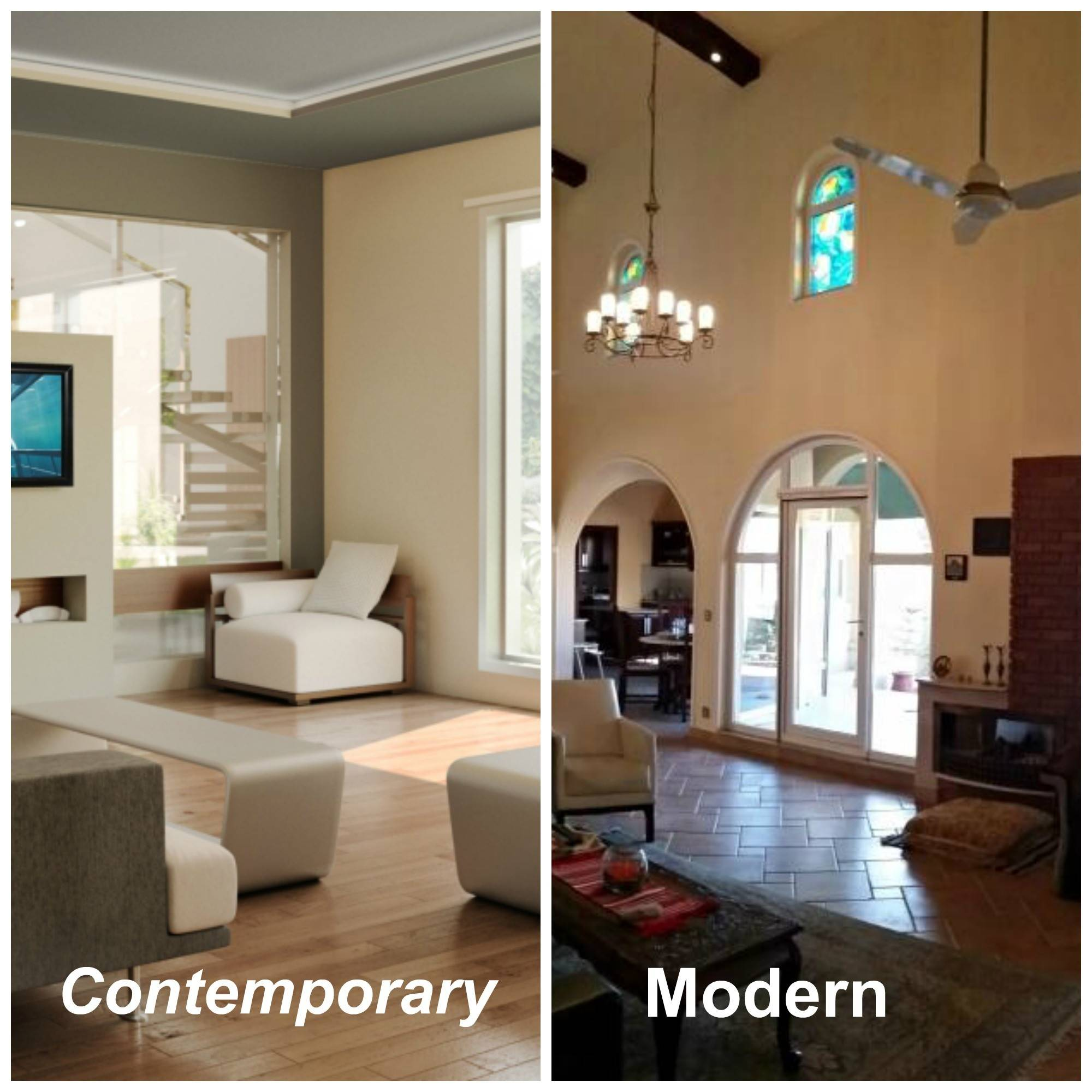 Difference Between Modern Contemporary Interior Decor