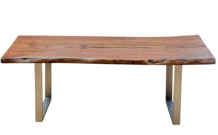 Dining Room Tables Live Edge Acacia Wood Iron Rustic