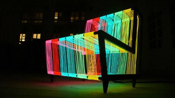 Disco Chair London Based Kiwi Stuns Its Neon Appearance