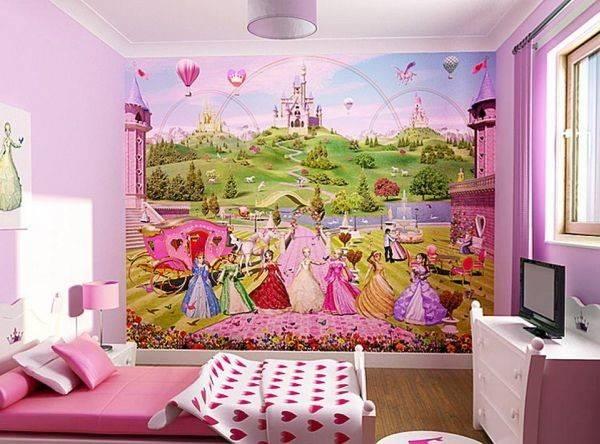 Disney Princess Can Turn Girls Bedroom Pink White
