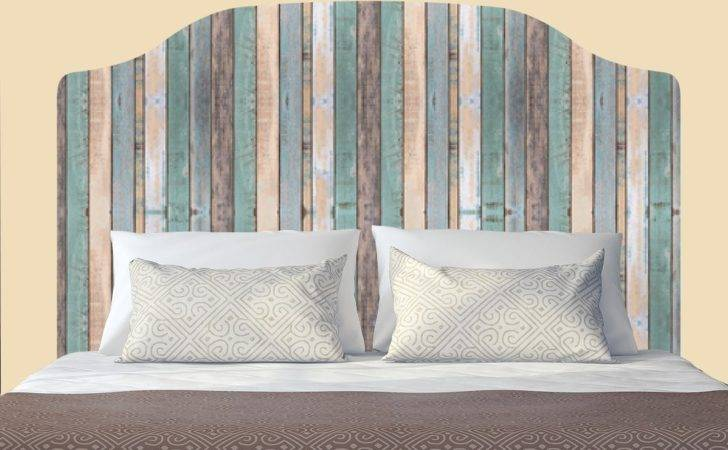 Distressed Colored Wooden Fence Headboard Decal Graphic