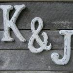 Distressed Large Wood Letters Ampersand Set Hensnesttreasures