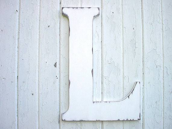 Distressed Wedding Decor Wooden Letter White Lettersofwood