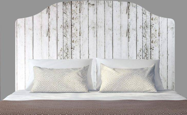 Distressed White Wooden Fence Headboard Decal Graphic