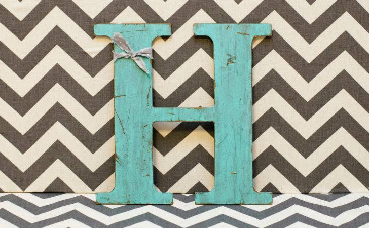 Distressed Wooden Letter All Letters Available Painted